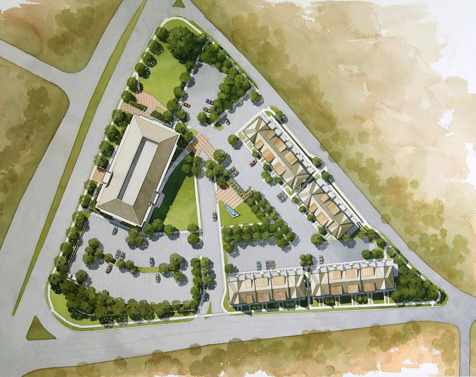 The Terraces At Timothy Condominiums Site Plan Illustration